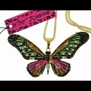 BETSEY JOHNSON~ Large BUTTERFLY Necklace